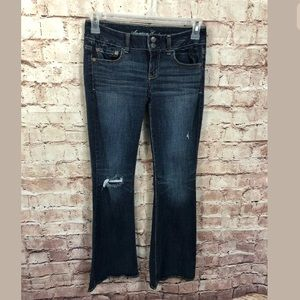 American Eagle Stretch Artist Jeans Sz 4 Distress